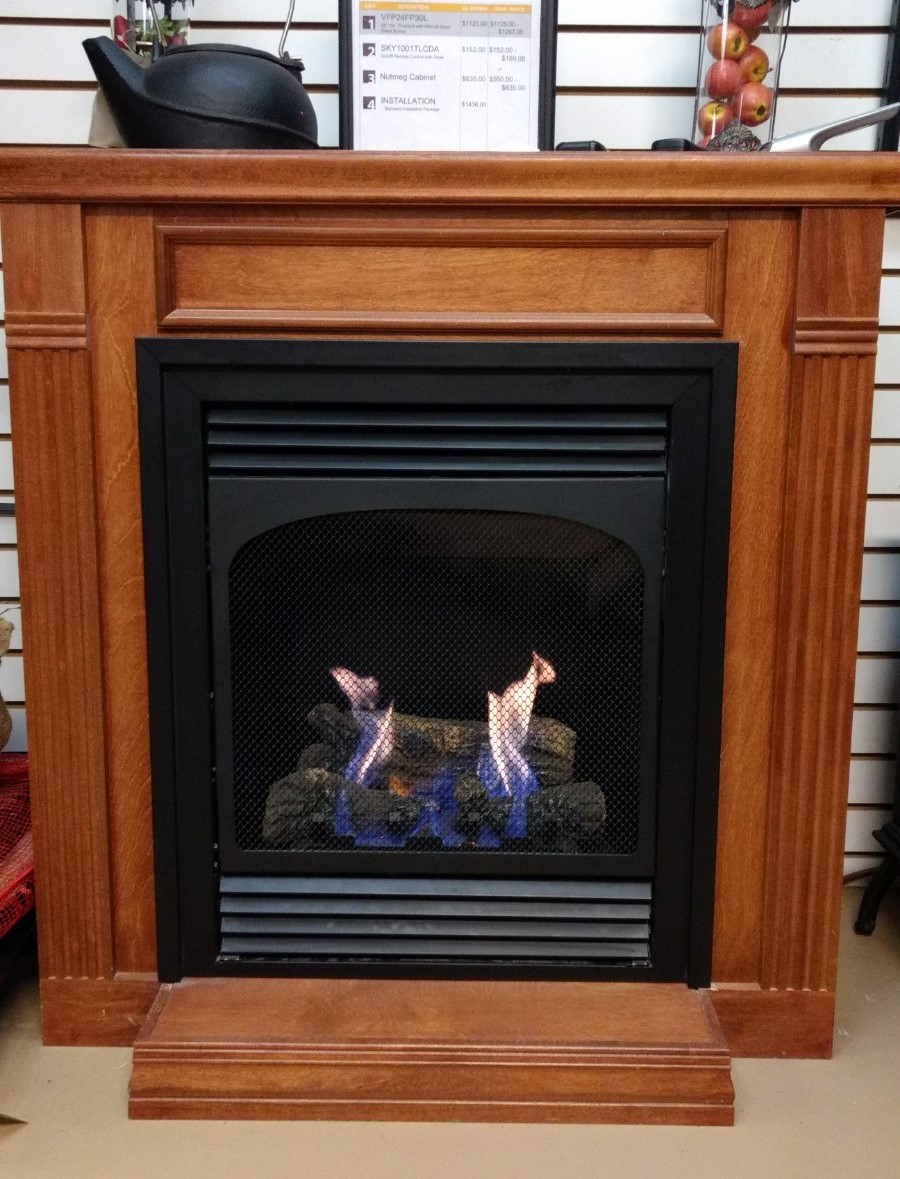 Pipe Remote Installation And Ta Not Included In Closeout White Mountain Vail 24 Vent Free Fireplace